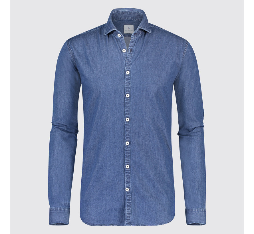 Overhemd Donkerblauw.Blue Industry Denim Overhemd Donkerblauw 1242 91 Nieuwnieuw
