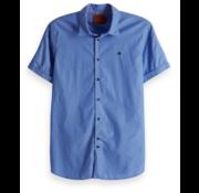 Scotch & Soda Korte Mouw Overhemd Licht Blauw (148930 - 0661)