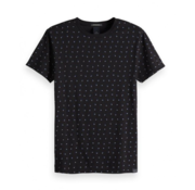 Scotch & Soda T-shirt Korte Mouw Navy Print (149002 - 0221)