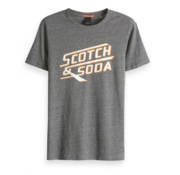 Scotch & Soda Retro Artwork T-shirt Korte Mouw Grijs (149037 - 0607)
