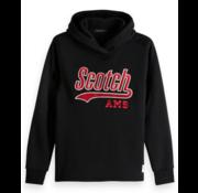 Scotch & Soda Hoodie logo Zwart/Rood (148963 - 0008)