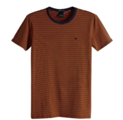 Scotch & Soda T-shirt Streep Navy/Oranje (149001 - 0222)