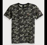 Scotch & Soda T-shirt Bloemenprint Navy/Beige (149001 - 0461)