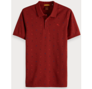 Scotch & Soda Polo korte mouw print Rood (149083 - 0217)