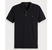 Scotch & Soda Polo korte mouw print Navy (149083 - 0222)