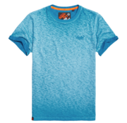 Superdry T-shirt Low Roller Tee Blauw turqouise (M10101RT - D3B)