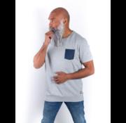 Amsterdenim Sweater korte mouw Sjinkie grijs (AM1901 - 502903)