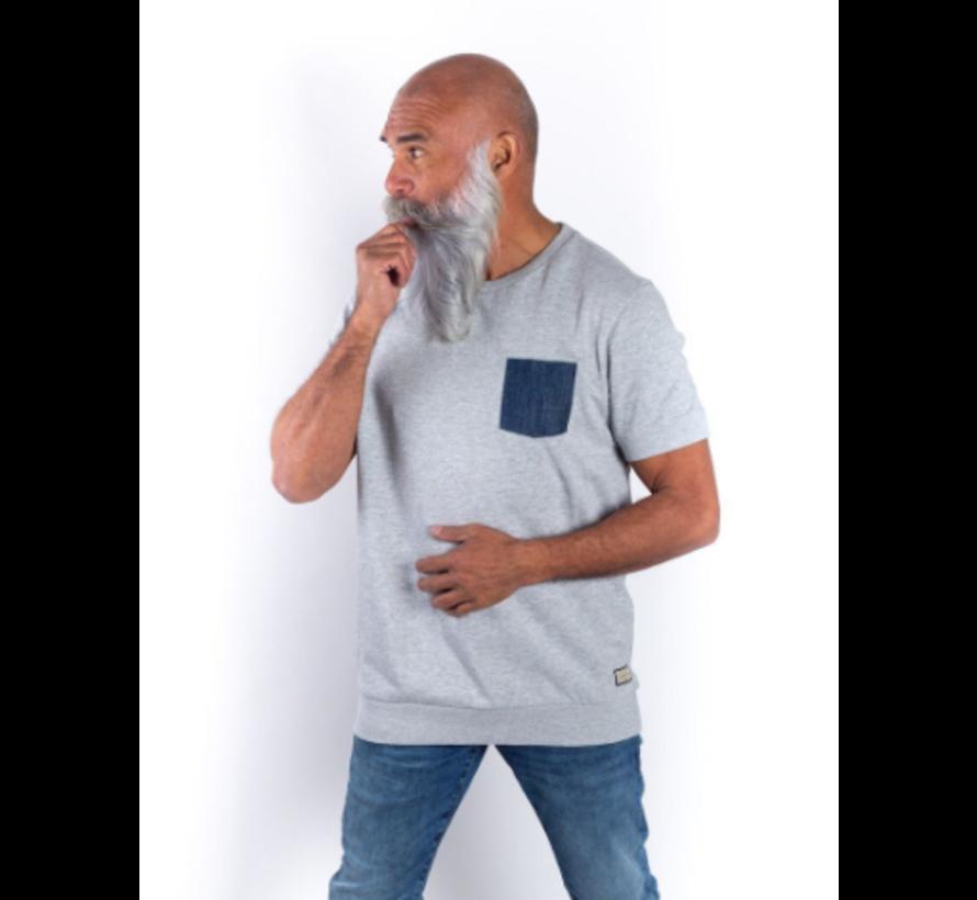 Sweater korte mouw Sjinkie grijs (AM1901 - 502903)