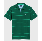 Gant Polo korte mouw streep Groen (2022058 - 373)