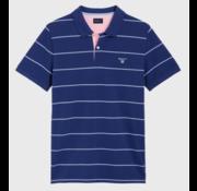 Gant Polo korte mouw streep Blauw (2022058 - 436)