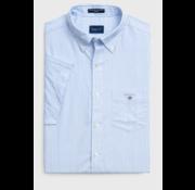 Gant Korte Mouw Overhemd Streep Blauw (3046501 - 468)