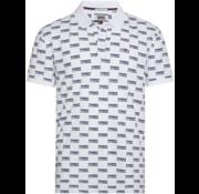 Tommy Hilfiger Logo Print Polo Wit (DM0DM06028 - 100)