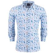 New Zealand Auckland Overhemd print Blauw/Multicolor (19BN526 - 370)