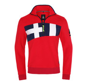 Gaastra fleece trui Celebes Sea rood (1353110182 - R039)