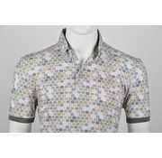 Culture Polo Button Down Modern Fit Print Groen (215062 - 55)