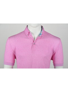 Culture Polo Button Down Modern Fit Roze (215051 - 81)
