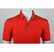 Culture Polo Button Down Modern Fit Rood (215059 - 85N)