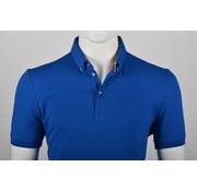Culture Polo Button Down Modern Fit Blauw (215059 - 35N)