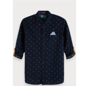 Scotch & Soda Overhemd print Navy (148842 - 0218)