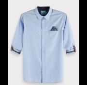 Scotch & Soda Overhemd print Blauw (148842 - 0219)