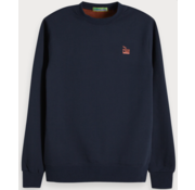 Scotch & Soda Sweater Navy met logo (148947 - 0002)