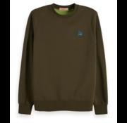 Scotch & Soda Sweater Army Groen met logo (148947 - 0360)