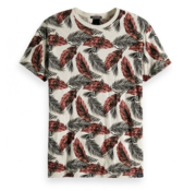 Scotch & Soda T-shirt Grijs Tropische Print (149002 - 0220)