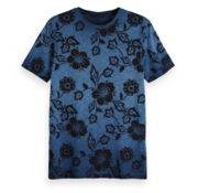 Scotch & Soda T-shirt Print Blauw (149012 - 0218)