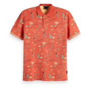 Scotch & Soda Polo Allover Print Oranje (149094 - 0217)