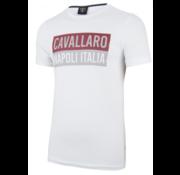 Cavallaro Napoli T-shirt Wit/Rood/Beige (1791005 - 10000)