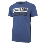 Cavallaro Napoli T-shirt print Blauw (1791005 - 62000)