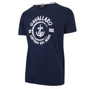 Cavallaro Napoli T-shirt print Donker Blauw (1791006 - 63000)