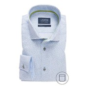 Ledub Overhemd Modern Fit Print lichtblauw (0137786-130-130-110)