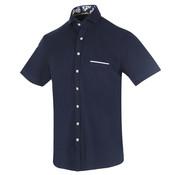 Blue Industry Korte Mouw Overhemd Navy (1126.91)
