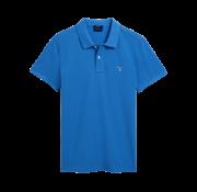 Gant Polo korte mouw blauw (2201 - 424)