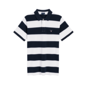 Gant Polo korte mouw navy/wit (222110 - 110)