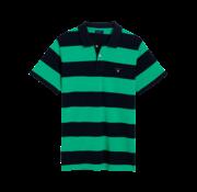 Gant Polo korte mouw navy/groen (222110 - 356)