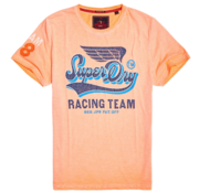 Superdry T-shirt Logo Print Oranje/Blauw (M10106YT - ZRC)
