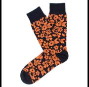 Tresanti Sokken Flower Print Navy/Oranje (TCSOBE004B)