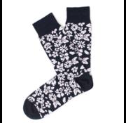 Tresanti Sokken Flower Print Navy/Wit (TCSOBE004D)