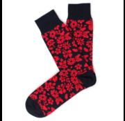 Tresanti Sokken Flower Print Navy/Rood (TCSOBE004C)