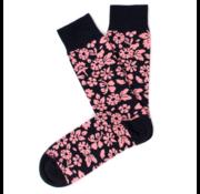 Tresanti Sokken Flower Print Navy/Roze (TCSOBE004F)