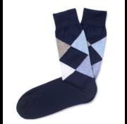 Tresanti Sokken Geruit Navy/Blauw/Grijs (TCSODB008C)