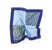 Tresanti Geprinte Blauwe pochet van zijde (TMHAAB001A)