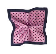 Tresanti Pochet roze/navy stippen van zijde (TMHABC002F)