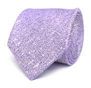 Tresanti Paarse zijden das met linnen look (TCTICA027B)