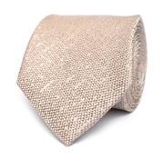 Tresanti Beige zijden das met linnen look (TCTICA027F)