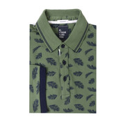 Tresanti Polo shirt piqué veren print groen (TCPODB002A)