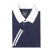 Tresanti Polo shirt jersey met all over stippen print. (TCPODB003A)