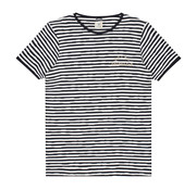 Dstrezzed T-shirt Gestreept Navy/Wit (202362 - 645)